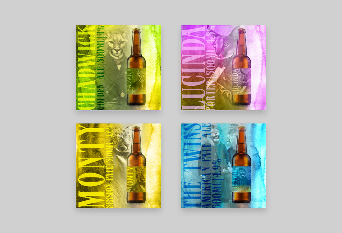 Beers labels for Incognito X Red Cat collaboration